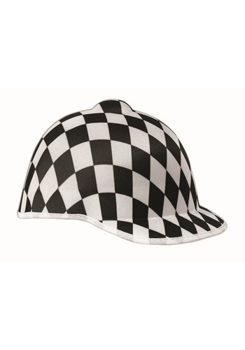 Black Checkered Jockey Hat