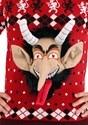 Adult 3D Krampus Head Unisex Ugly Christmas Sweater alt6