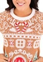 Womens Gingerbread House Ugly Christmas Sweater alt5