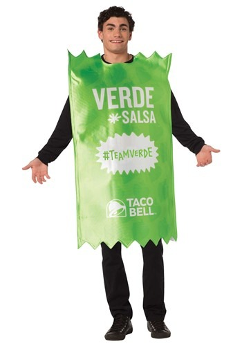 Taco Bell Adult Verde Taco Bell Sauce Packet Costu