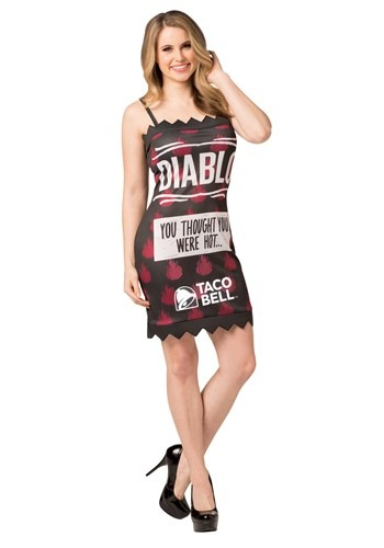 Taco Bell Womens Diablo Taco Bell Sauce Packet Cos