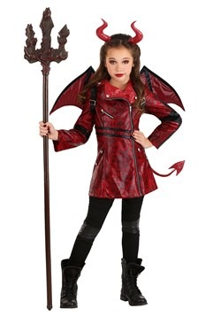 Kids Leather Devil Costume1