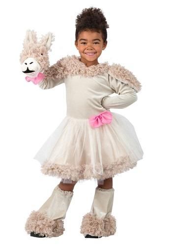 Girls Puppet Llama Costume