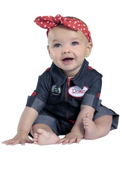 Newborn Rosie the Riveter Costume