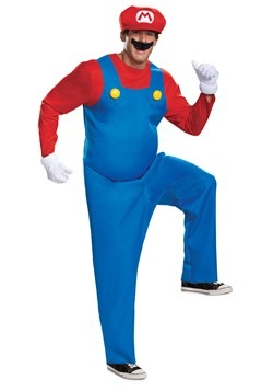 Super Mario Brothers Mens Mario Deluxe Costume