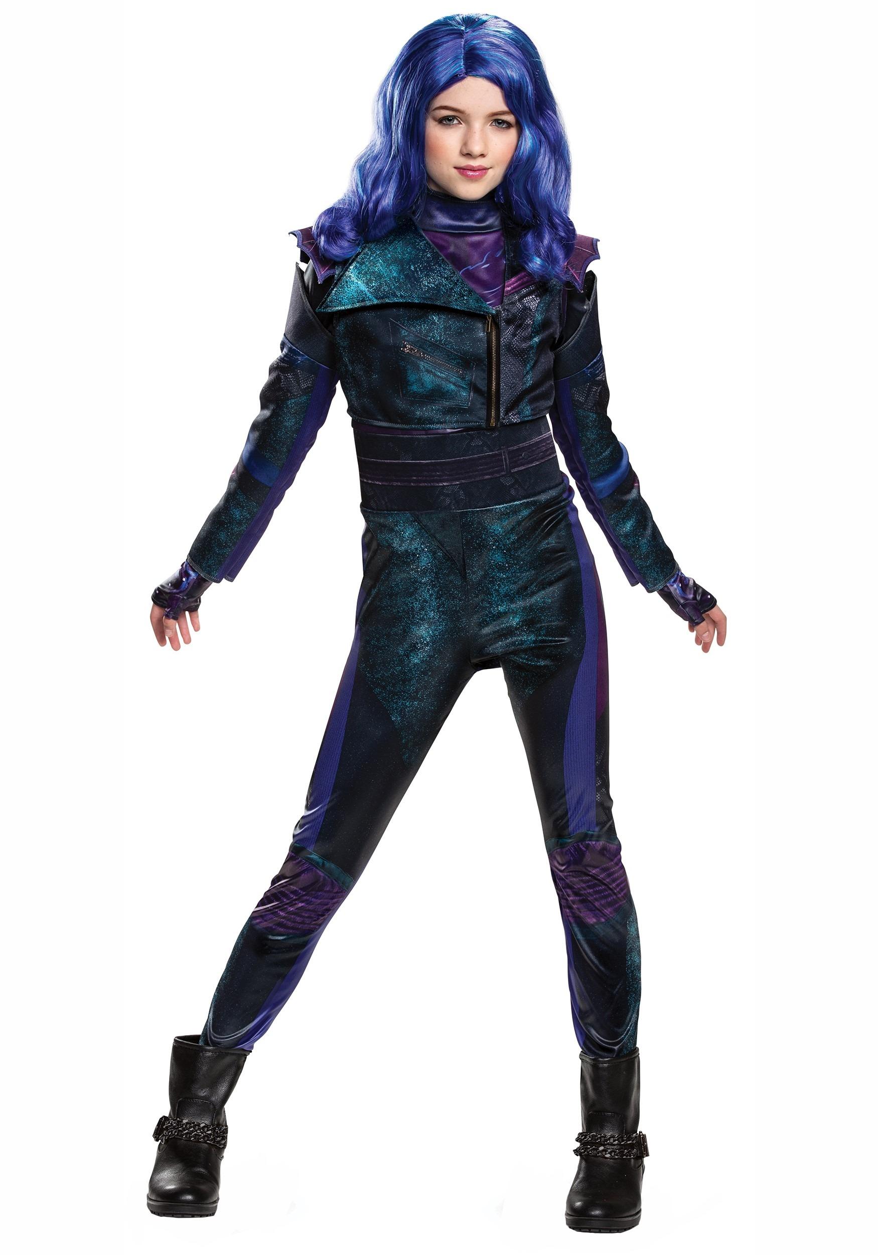 Disney Uma Deluxe Descendants 2 Girls size L 10//12 Teal Licensed Costume Outfit