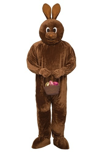 Adult Chocolate Bunny Mascot Costume