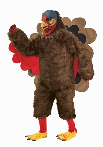 Adult Deluexe Plush Turkey Mascot Costume