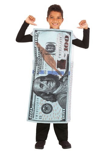 Child 100 Dollar Bill Costume