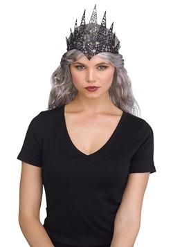 Black Flexible Glitter Crown