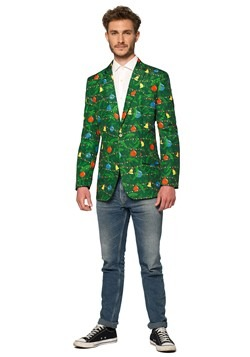 Suitmeister Christmas Green Tree Light Up Men's Blazer