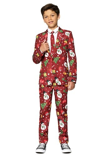 Suitmeister Christmas Red Light Up Boy's Suit