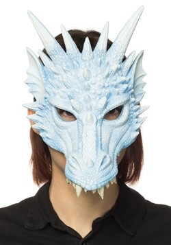 Ice Blue Dragon Half Mask