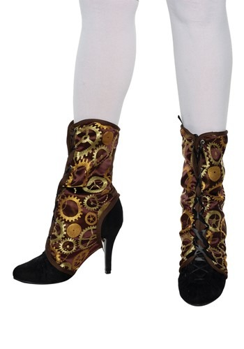 Brown Steampunk Spats