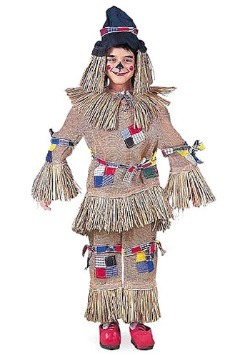 Realistic Kids Scarecrow Costume