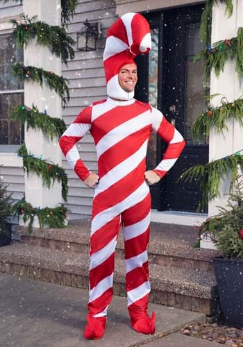 Adult Red Candy Cane Bodysuit