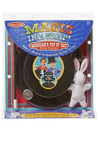 Melissa & Doug Pop Up Magic Hat (w/tricks)