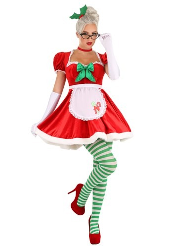 Womens Sexy Classic Mrs. Claus Costume