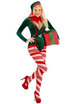 Women's Sexy Santa Elf Costume main