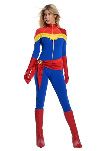 Captain Marvel Womens Captain Marvel Premium Costu