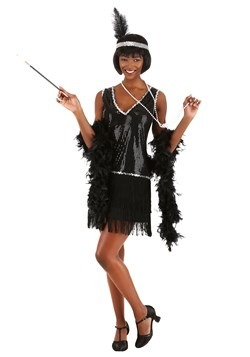 Women's Onyx Flapper Costume