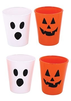 4 Pack Ghost and Pumpkin Halloween Shot Glasses