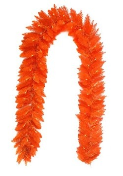 Pre-Lit Orange Garland