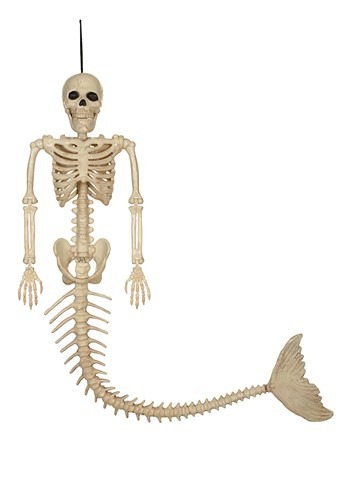 "21"" Skeleton Mermaid Prop"