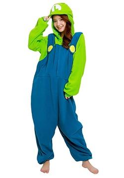 Super Mario Brothers Adult Luigi Kigurumi Costume