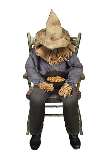 Animated Sitting Scarecrow Prop
