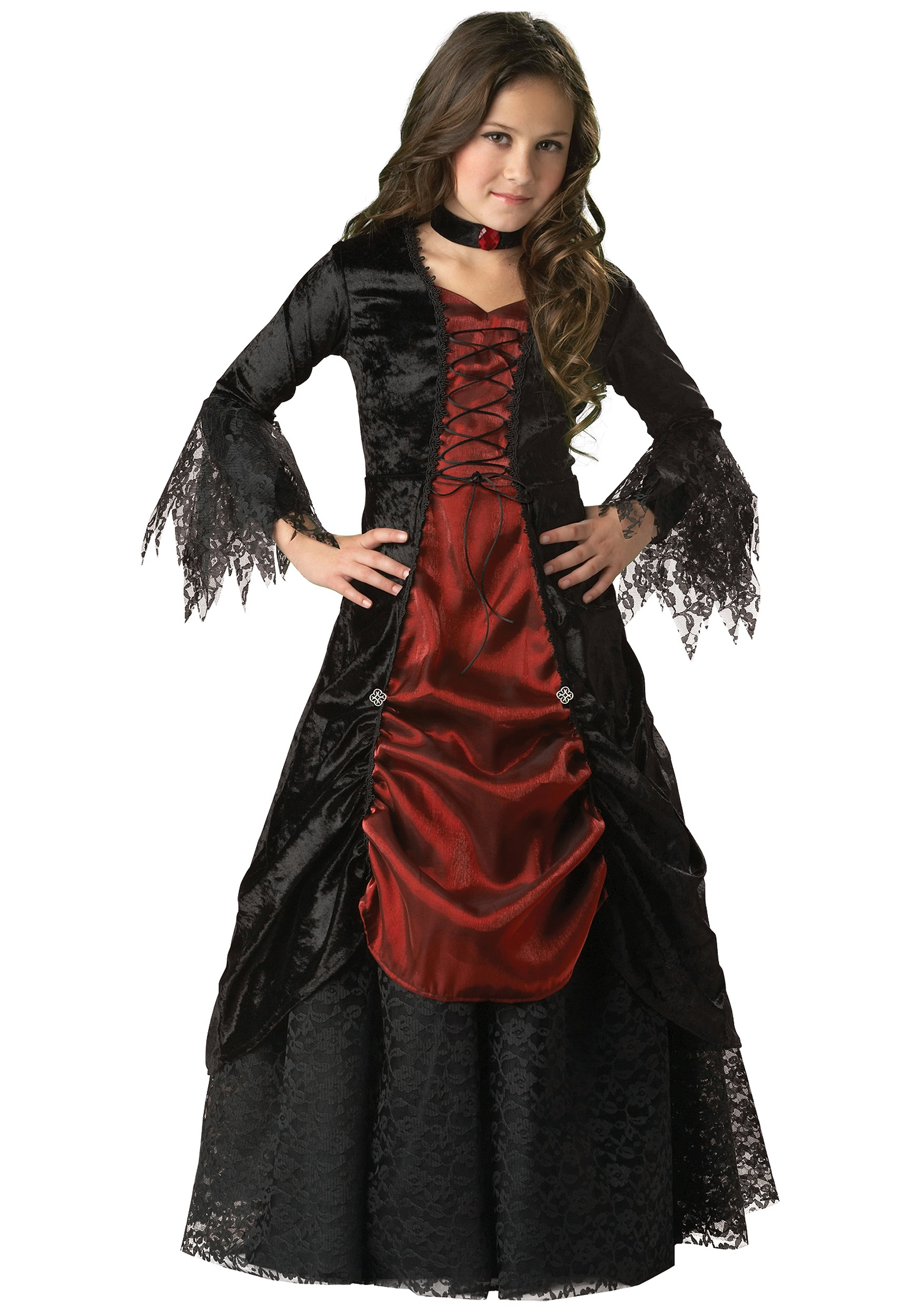 Female Vampire Costume Adult Halloween Fancy Dress