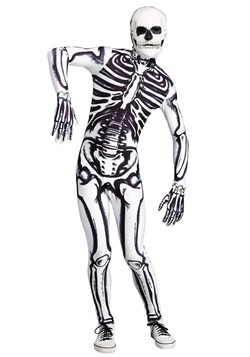 Men's White Skeleton Costume