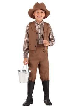 Kid's Western Pioneer Costume Main