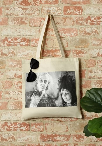 Beetlejuice Image Capture Canvas Tote