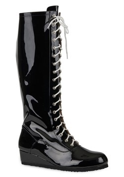 Men's Black Wrestling Boot