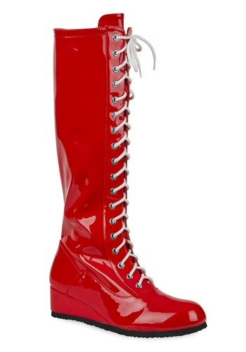 Men's Red Wrestling Boot