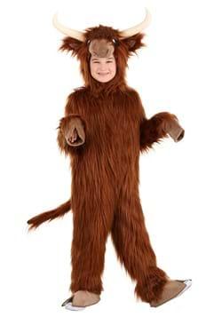 Kid's Highland Cow Costume Main