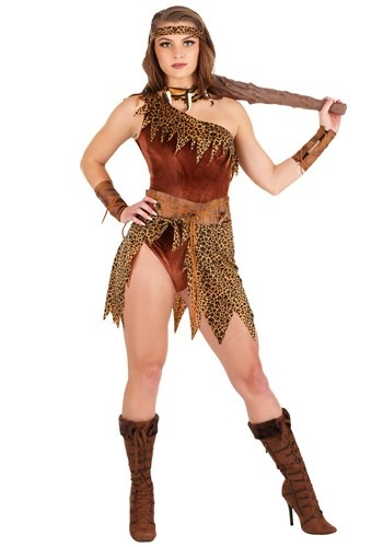 Women's Fierce Cavewoman Costume1