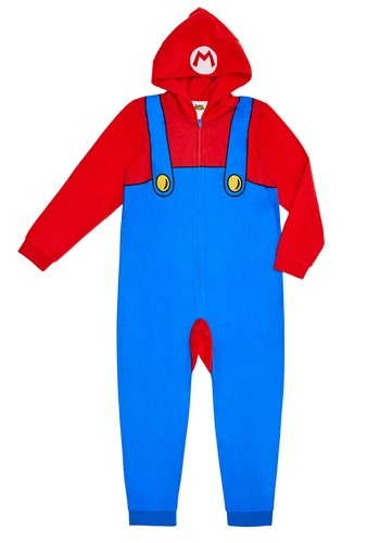 Mario Child Hooded Union Suit