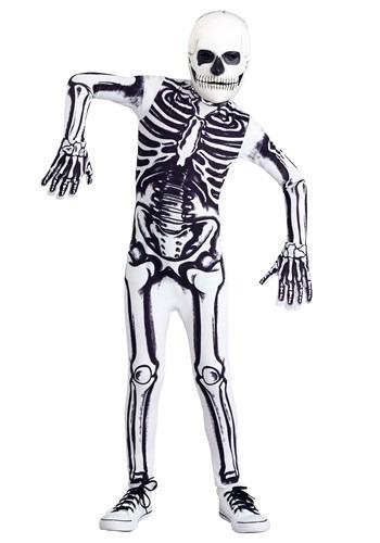 White Skeleton Kids Costume