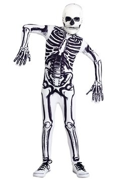 White Skeleton Kids Costume