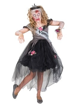 Girl's Zombie Prom Queen Costume