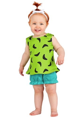Infant Classic Flintstones Pebbles Costume1