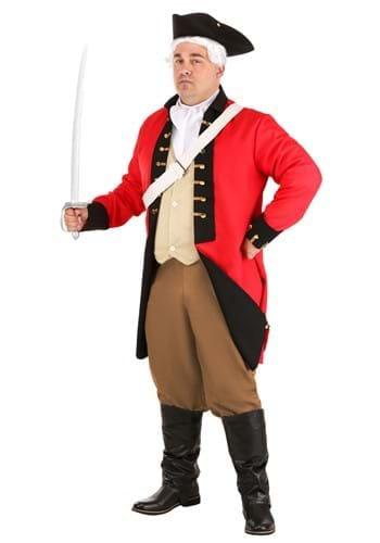 Adult British Red Coat Plus Size Costume