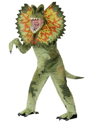 Plus Size Adult Dilophosaurus Costume