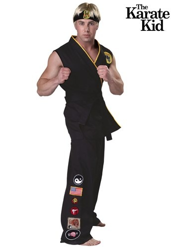 Men's Karate Kid Plus Size Authentic Cobra Kai Costume