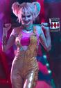 Women's Harley Quinn Gold Overalls Costume Alt 10