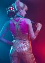 Women's Harley Quinn Gold Overalls Costume Alt 11