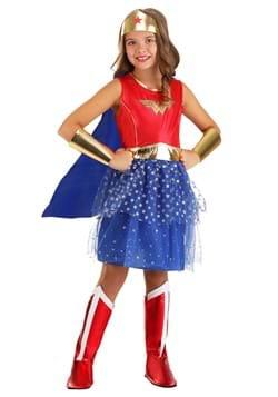 Girl's Caped Wonder Woman Costume