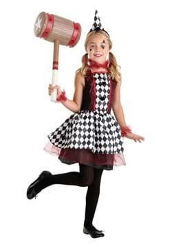 Kid's Burgundy Harlequin Costume